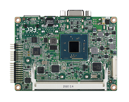 Intel<sup>®</sup> ATOM E3825 Pico-ITX SBC with DR3L, 24bit LVDS, VGA, 1GbE, Half-size Mini-PCIe, 4USB, 2COM, SMBus & mSATA-Wide Temp Version (-20~80C)