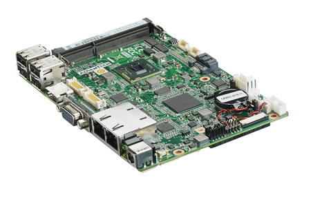 "3.5"" Embedded Single Board Computer Intel<sup>®</sup> Atom N2600 Dual Core, MIOe Expansion, DDR3, VGA, LVDS, HDMI"