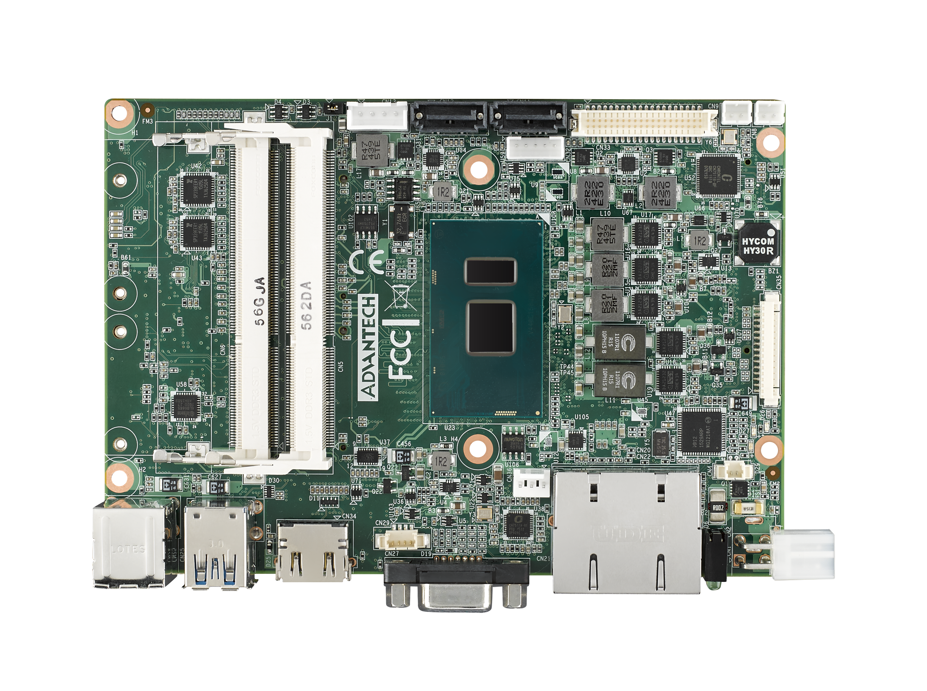 "3.5"" Embedded Single Board Computer Intel<sup>®</sup> i5-6300U, HDMI, VGA, Wide Temp Support 20 ~ 80"