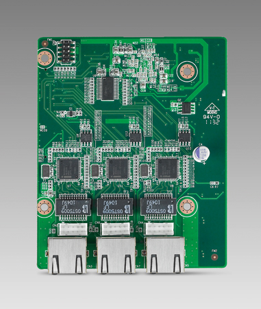 MIOe with 3xGigabit Ethernet via PCIe Switch  (Extends MIO-5250, MIO-5270, MIO-5290 boards)