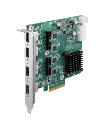 <b>PCI Express x4, 8 端口 USB3.0 擴展卡</b><li>