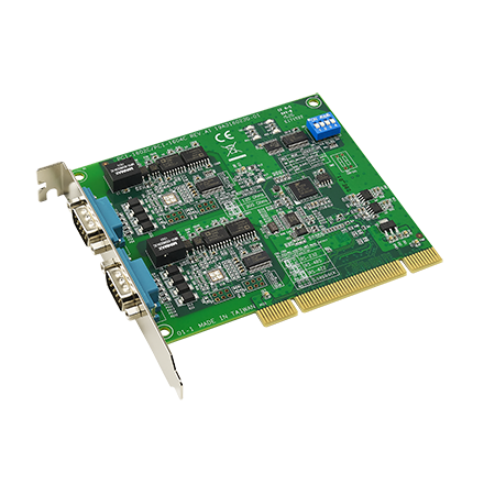 2-port RS-232 PCI Communication Card with Isolation