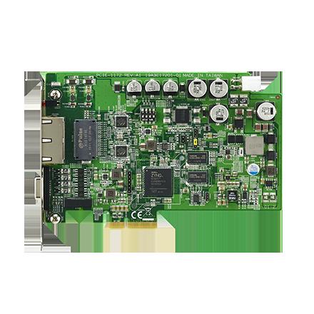 2-Port PCIe GigE Vision PoE Frame Grabber with FPGA and Trigger over Ethernet