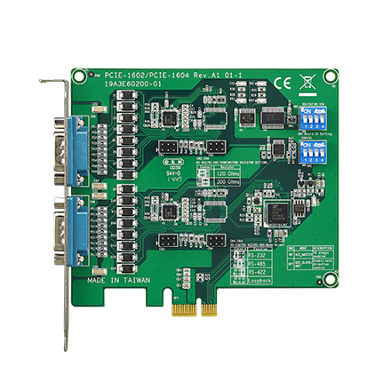 CIRCUIT BOARD, 2-port RS-232/422/485 PCIe Comm. Card w/Iso