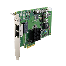 2-Port PCIe GbE PoE Vision Card