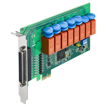 8-channel Relay & 8-channel Isolated Digital Input PCIE Card
