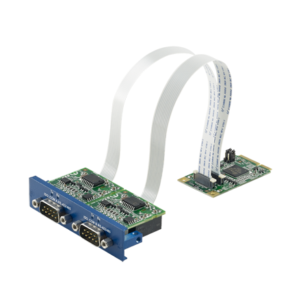 2-Port Isolated RS-422/485 mPCIe, DB9 Expansion Module