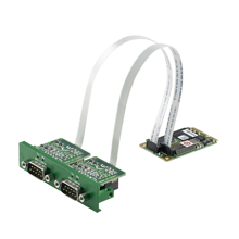 2-Ports Isolated CANBus, CANOpen Mini-PCIe iDoor Module, DB9 x 2