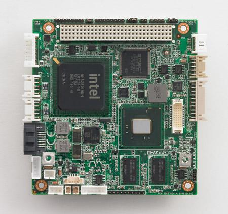 Intel<sup>®</sup> Atom™ N455,1GBメモリ搭載PCI-104SBC、CRT,LVDS,GbE,4USB,3COM,SATA