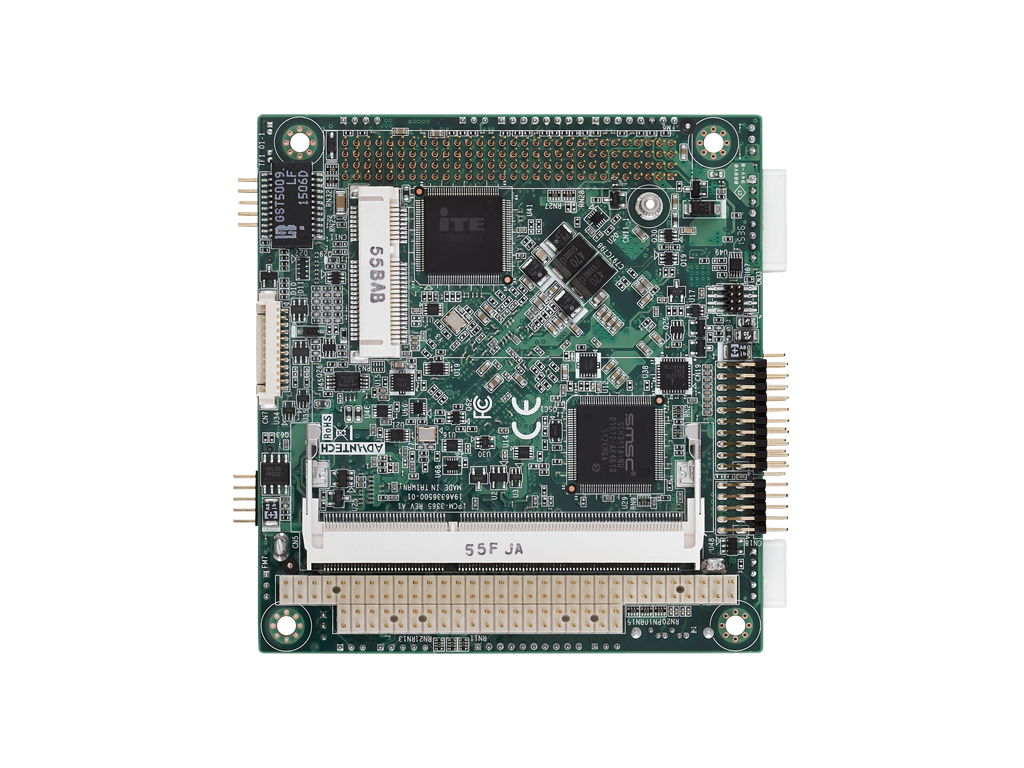 Intel <sup>®</sup>  Atom™ E3845 PC/104-Plus SBC with ISA, VGA, HDMI/DVI, LVDS, 6 USB, and mSATA - Extreme Temp Version (-40~85C)