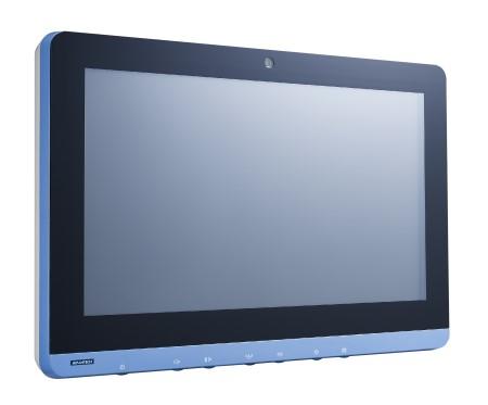 <li>研華15.6吋寬螢幕醫療級電容式觸控電腦</li> <li>IP43 Intel<sup>®</sup> Core™ i3-4010U, 4G RAM, 1xRJ45 Isolated, UPS Battery, IEC 60601-1認證</li>