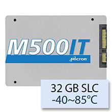 "Micron M500IT Wide Temperature -40~85°C, 32 GB 2.5"" SATAIII SLC MTFDDAK032SBD-1AH12ITYY"