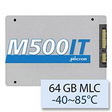 "Micron M500IT Wide Temperature -40~85°C, 64 GB 2.5"" SATAIII MLC MTFDDAK064MBD-1AH12ITYY"