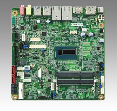 4th Gen Intel<sup>®</sup>Core™ i5-4300U Mini-ITX w/eDP/DP/DP++, 2 COM, and Dual LAN