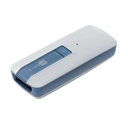 CipherLab 1661H Antimicrobial Linear Bluetooth Scanner Only, IP42, White, 1 Rechargeable Li-ion Battery, Micro USB Cable, A1661C1SNUN01