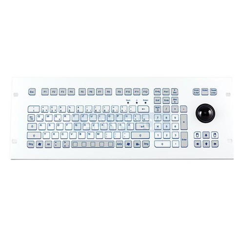 Indukey TKS-105c-TB38-FP-4HE-USB, TKS 105 Key IP65 Trackball 38mm Front Panel Embedded 4RU (USB)